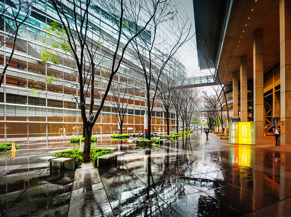A Rainy Scene in Tokyo I stayed here one afternoon for a short bit in the shade. I really liked how everything was wet and the background was a clean white with complex lines all over the place. It's hard to explain why I liked the feel of this place — I just did. Part of it was that I like the wet, reflective ground without actually needing to stay in the rain. I love a good rain shot, but I hate standing in the rain! I feel like my mom is always telling me to get out of the rain or I will catch a cold!- Trey RatcliffClick here to read the rest of this post at the Stuck in Customs blog.