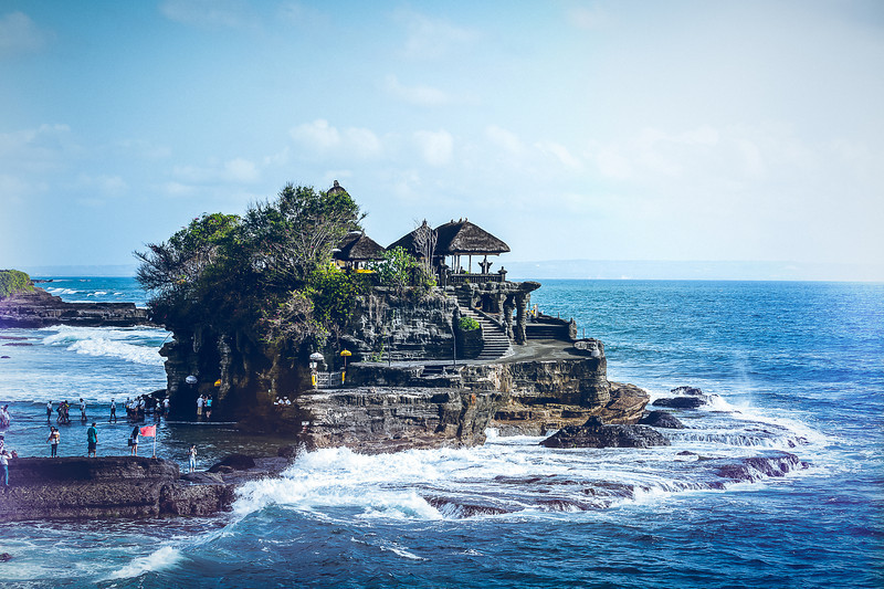 "<h1>Tanah Lot the Sea Temple. </h1> <p>Tanah Lot is the Temple in the Sea and is a very popular tourist spot of Bali Indonesia. </p>  <p>Learn more about my photography at <a href=""http://alikgriffin.com"">AlikGriffin.com</a></p>"