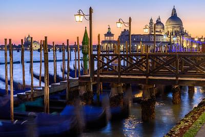 Sunset over Basilica di Santa Maria della Salute, Venice