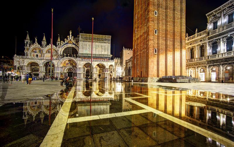 Venice Sinking Into A Flood