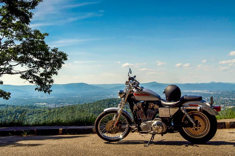 Harley Davidson on the Blue Ridge