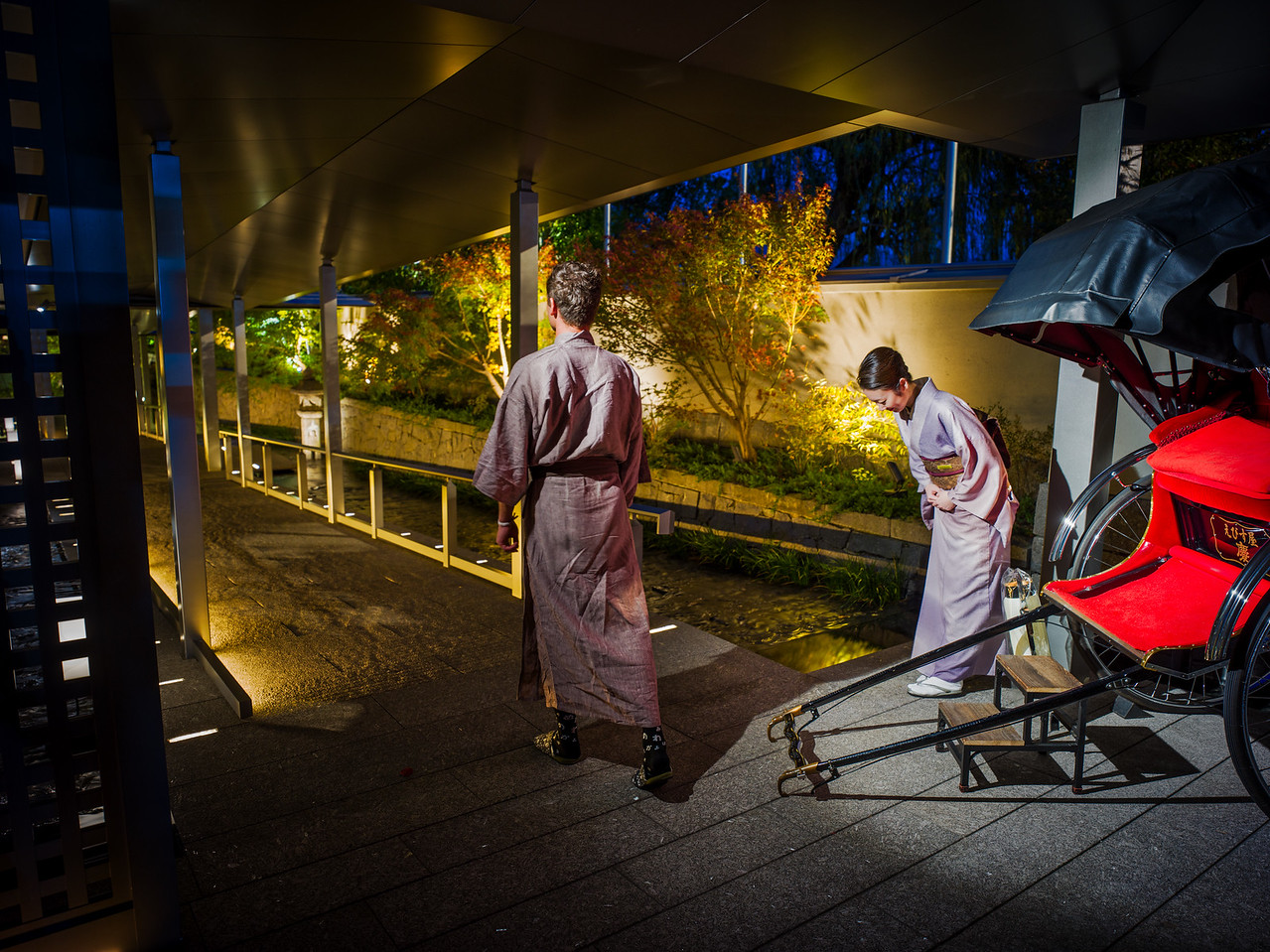 Tane Going Home In Kyoto