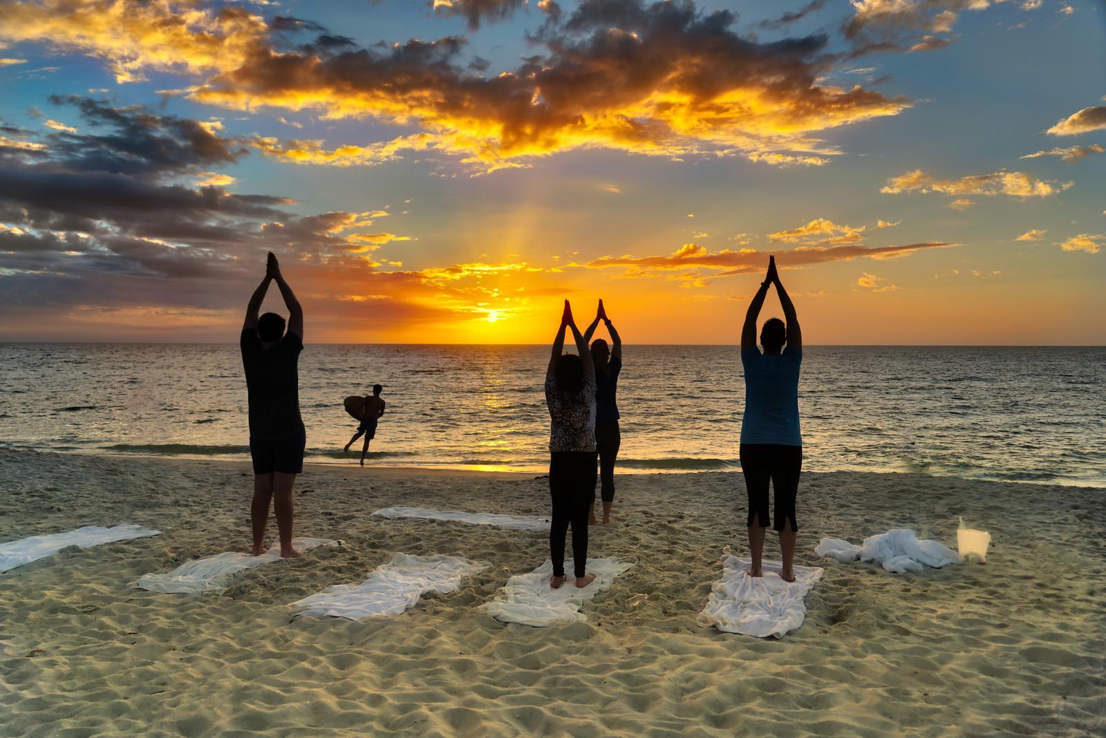 Family Beach Yoga!