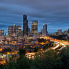 "<h2>Downtown Seattle</h2> After arriving in Seattle, I immediately went to this spot to grab a photo.  I barely made it in time.  I had about 30 minutes of full light left before this scene began.  It gave me just enough time to set up and frame everything with the right settings.  I guess ""last minute"" sound a little dramatic, but, really, for me, I like to have some extra time to make sure all my settings are right before that magic moment hits.  - Trey Ratcliff  The rest of this entry and a new short video are <a href=""http://www.stuckincustoms.com/2011/09/04/downtown-seattle/"">here</a> at the Stuck in Customs blog."
