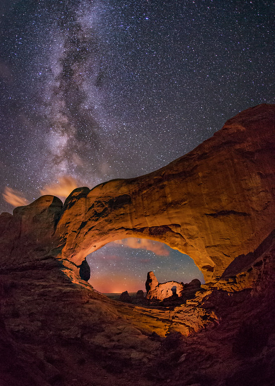 Turret Arch seen through the North Window