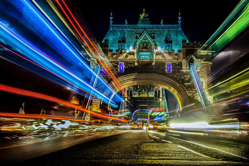 Light Trails on Tower Bridge