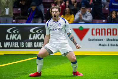 TORONTO, CANADA - Dec 30: during Major Arena Soccer League match between Mississauga Metro Stars vs Harrisburg Heat at Paramount Fine Foods Centre. Photo: Michael Fayehun/F10 Sports Photography