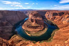 <h1>The Horseshoe Bend - Arizona</h1> <p>This is part of Glen Canyon just after the colorado river flows out of Lake Powell. This eventually leads into the Grand Canyon. </p>