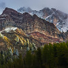 Spectacular geology on the Passo Rolle
