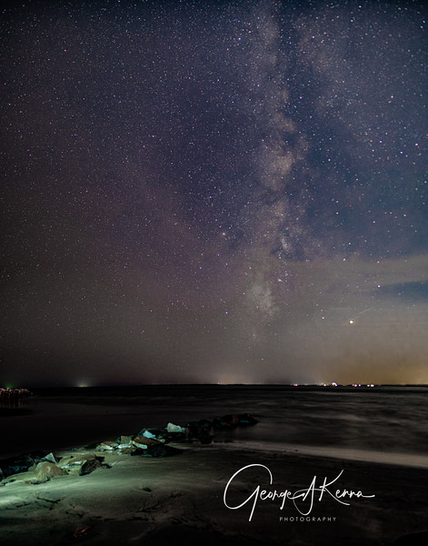 Milky Way from Fort Moultrie, Sullivans Island, SC