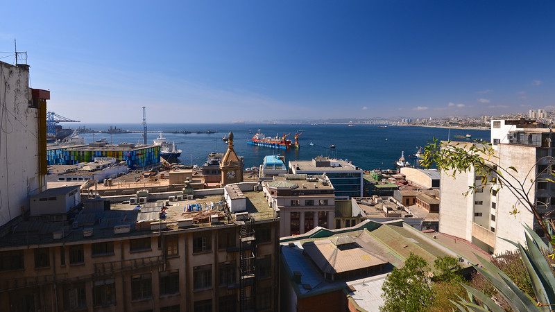 Leaving Port - Valparaiso Chile South America