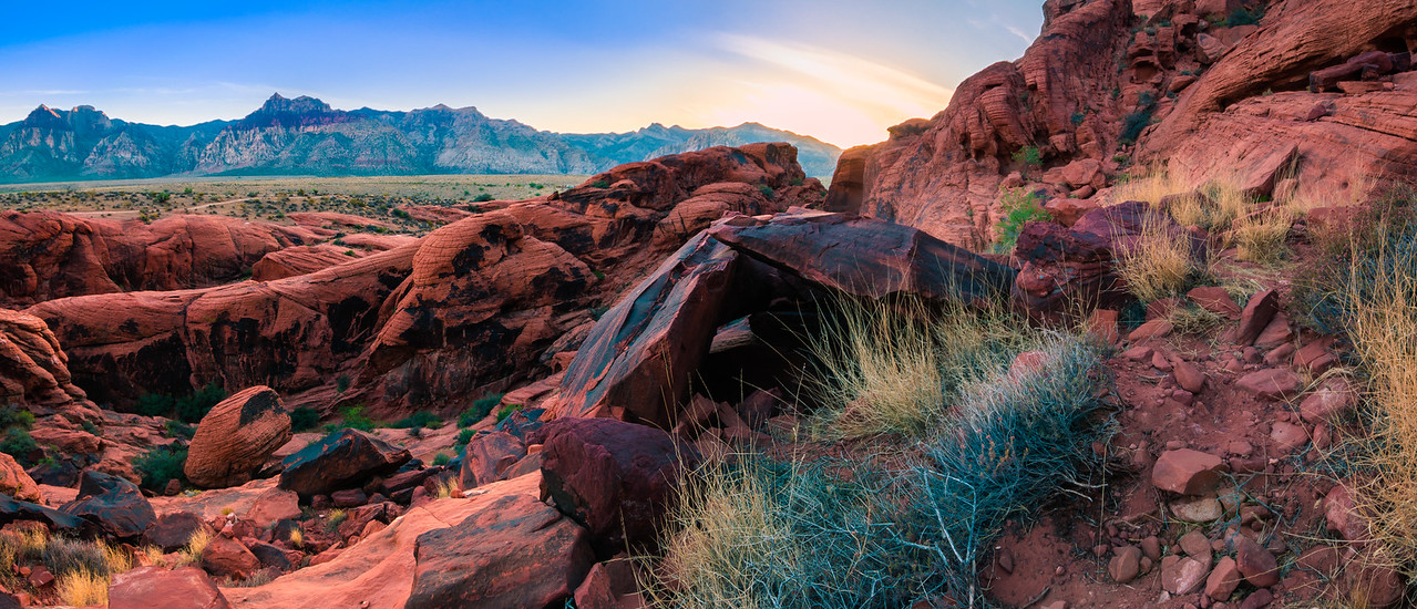 Calico Hills at Sunset