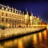 "<h2>The Castle that Never Ends</h2> <br/>These Parisian facades along the Seine are about as classically European as it gets. When these buildings are lit up at night, they are really beautiful in their orange hues.  I took this after leaving Notre Dame and walking across a bridge heading north. I took so many photos of scenic spots… I could hardly figure out what to process first! I actually lament not being here at sunset, but the deep dusky blue still worked out pretty good.<br/><br/>- Trey Ratcliff<br/><br/><a href=""http://www.stuckincustoms.com/2009/07/31/the-castle-that-never-ends/"" rel=""nofollow"">Click here to read the rest of this post at the Stuck in Customs blog.</a>"