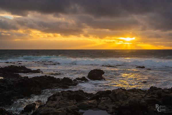 Hawaiian Lavarock Sunrise