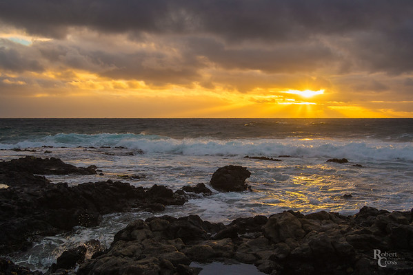 Hawaiian Lavarock Sunrise