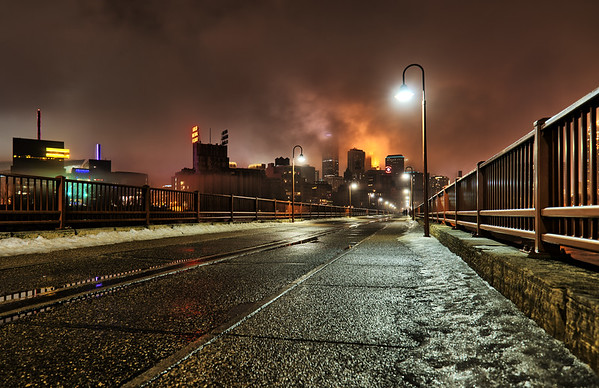 Quiet Night on the Stone Arch Bridge