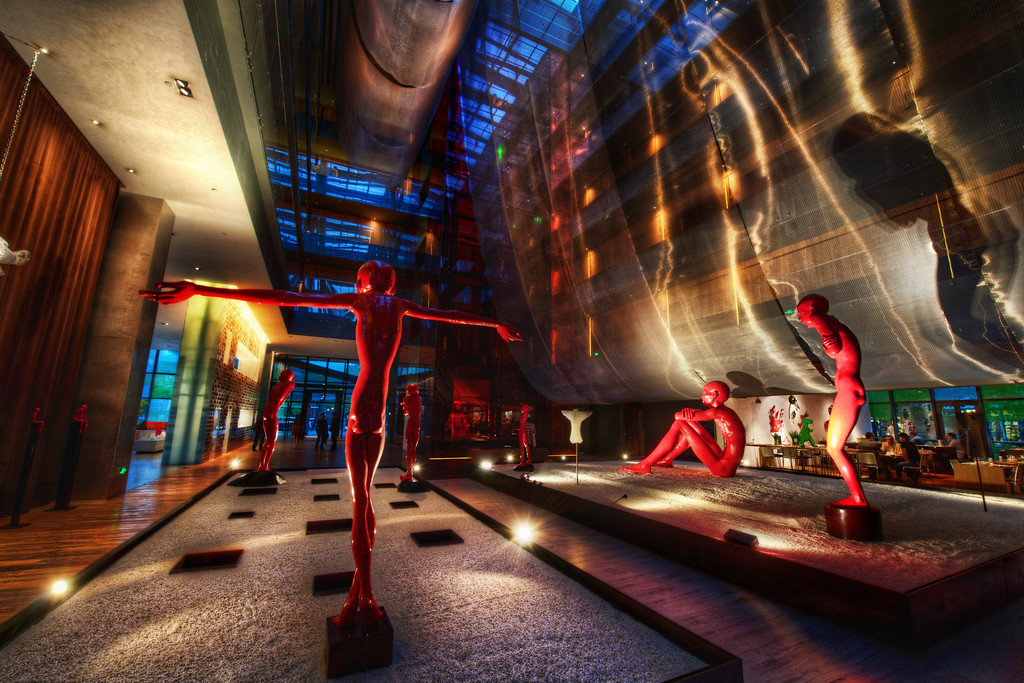 Awesome Lobbies of Beijing – The Opposite Hotel Everything about this hotel was pretty funky. Yes, they were trying too hard to be edgy-funky, but that's okay, because it kinda worked. I guess what I'm trying to say is that there was subtlety here in the funkiness. The decision to be bold and different was evident in every little detail of the hotel.Even if you don't stay at the hotel, make sure you stop by and have a look inside!- Trey RatcliffClick here to read the rest of this post at the Stuck in Customs blog.