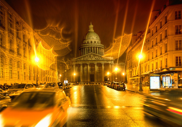 The Pantheon Scott and I went out almost every night taking photos all over Paris. The Pantheon here was right by our hotel. It was a rainy night when we were arriving home, so I had a feeling it would be a good time for photography! My intuition is not always spot-on, but in this case it worked out pretty well.  - Trey Ratcliff  Read the rest and see the long version of the SmugMug video here at the Stuck in Customs blog.