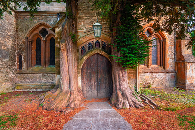 The Church Door at Stow on the Wold, Cotswolds, England