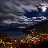 "<h2>Moonlight Clouds – Queenstown at 7:30 AM</h2><br/>The winter in these southern places make the sunrise rather late! I took this about 7:30 AM in the morning while the moon was still out over the sparkling Queenstown. I set up the tripod on my balcony, and this is our amazing view! I'm renting a Bach here called ""The Nest"" – and it has incredible views all day long… and all night long too, as you can see! :)<br/><br/>- Trey Ratcliff<br/><br/><a href=""http://www.stuckincustoms.com/2012/06/12/moonlight-clouds-new-zealand-at-730-am/"" rel=""nofollow"">Click here to read the entire post at the Stuck in Customs blog.</a>"