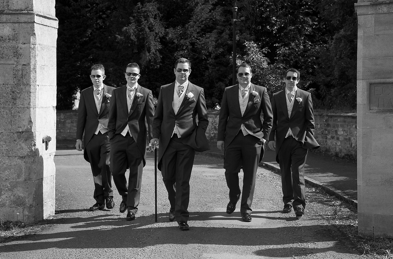 Black and white Wedding photographer in Northampton