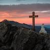 Sunrise on the summit of Monte Castellazzo