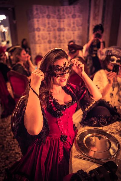 Lisa Bettany In A Venetian Mask