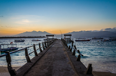 PIER AT GILIS, INDONESIA, 2013.