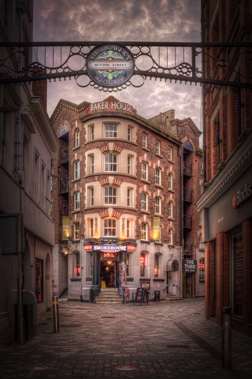 The Entrance to Button Street in Liverpool