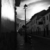Alleyway - Cusco Peru - Black & White