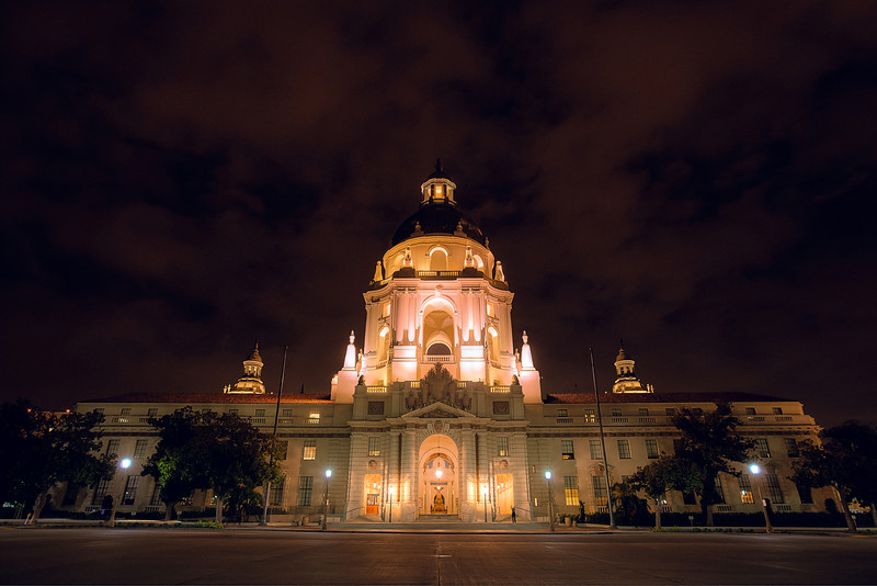 "<h1>Pasadena City Hall</h1> <p>I randomly drove by this location once in Pasadena completely unaware that it existed. Luckily I had my camera gear with me that night.</p>  <p>See more of my <a href=""http://alikgriffin.com"">HDR Photography</a> on my blog.</p>"