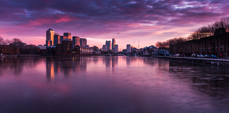 Greenland Dock sunrise