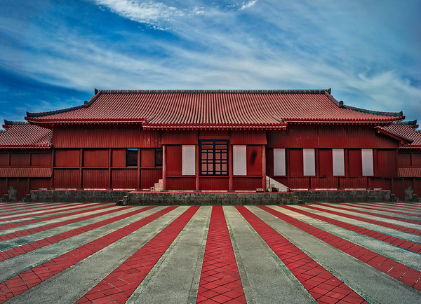 The Red Castle In Okinawa