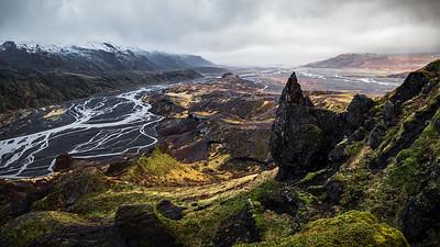 Panoramic View atop Valahnúkur in Iceland