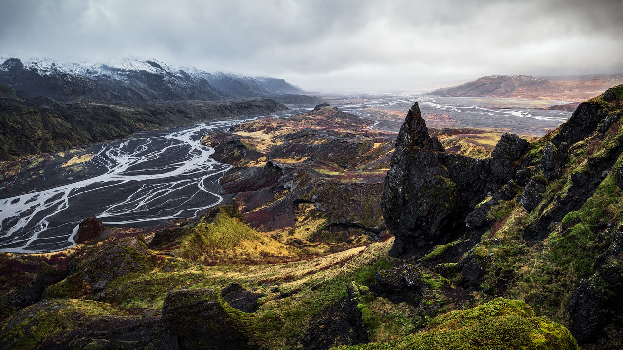 Panoramic View atop Valahnúkur in Iceland