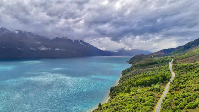 Flying Over Lake Wakatipu