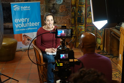 Supercybers shooting team leader interviews for Habitat for Humanity Global Village.