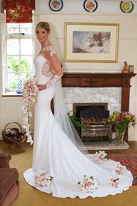 Bridal portrait at home