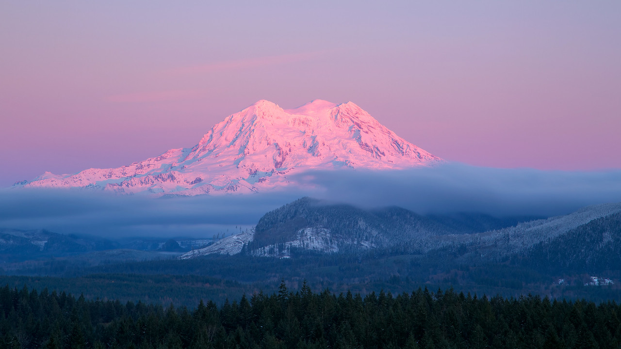 Alpenglow on Mt. Rainier