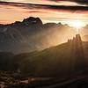 Sunrise over the towers of Cinque Torri