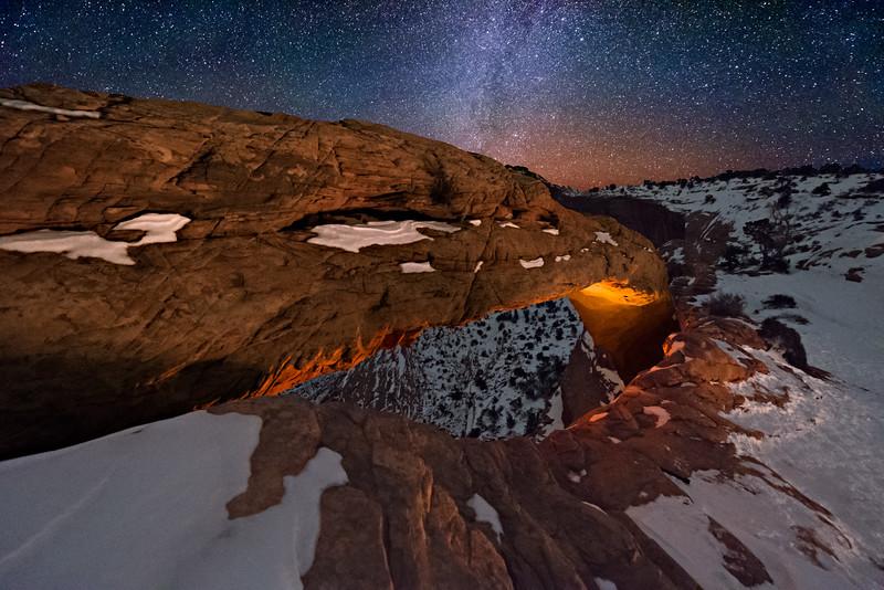 Mesa Arch at Night