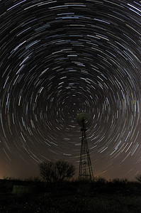 Star Trails on the Big Creek Ranch near Borger TX.