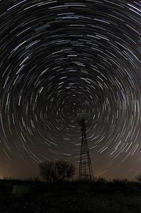 Star Trails on the Big Creek Ranch near Borger TX.