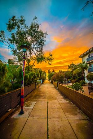 Walk Street at Sunset