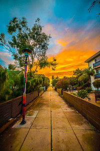 Walk Street at Sunset