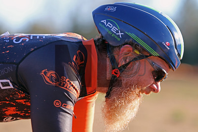 Robert Marion (41) competes in NC Cyclo-Cross Race #9 at Renaissance Park in Charlotte, North Carolina, on Sunday, November 17, 2019