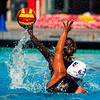 John Chaides / Courier<br /> Pasadena City College's Marie Lee tries to pass the ball to a teammate while LA Trade-Tech's Daisy Capetillo tries to steal in a SCC Conference women's water polo game at Pasadena City College on Wednesday, October 4, 2017.
