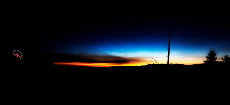 Fiery Sunset on Wawona Hills