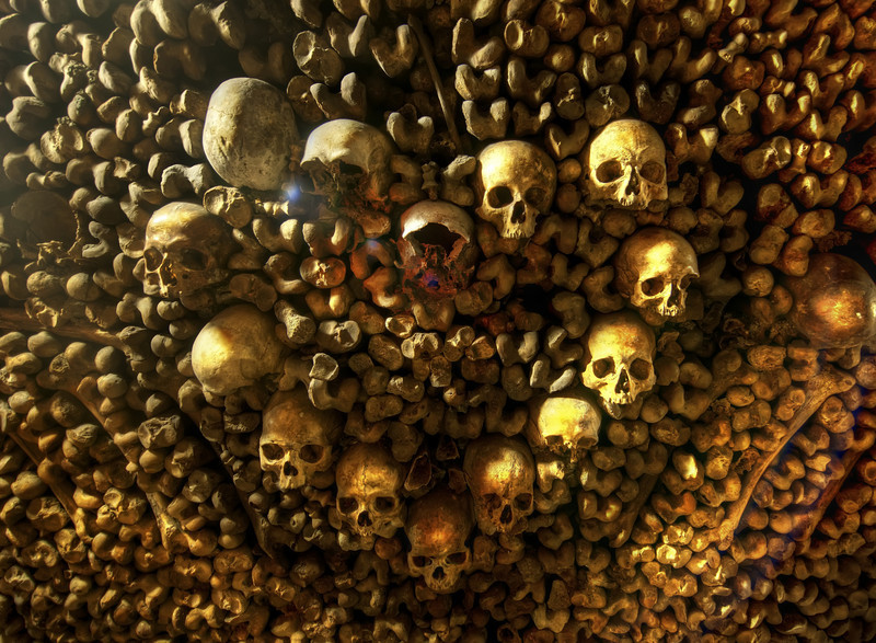 "<h2>Heart of Skulls</h2> <br/>This one is somewhat macabre, but it's still something worth seeing. <br/><br/>Under Paris are the infamous catacombs. I had a vague idea what it would be like, but it was an entire order of magnitude more intense than I expected! I thought, perhaps, there would be a few places with a whole bunch of bones, but it just went on and on and on and on. You have no idea (unless you have been there too). There were hundreds of yards of one kind of human bone followed by another hundred yards of another kind of bone. They used skulls for all sorts of decorations, including this embedded heart.<br/><br/>- Trey Ratcliff<br/><br/><a href=""http://www.stuckincustoms.com/2011/02/24/heart-of-skulls/"" rel=""nofollow"">Click here to read the rest of this post at the Stuck in Customs blog.</a>"