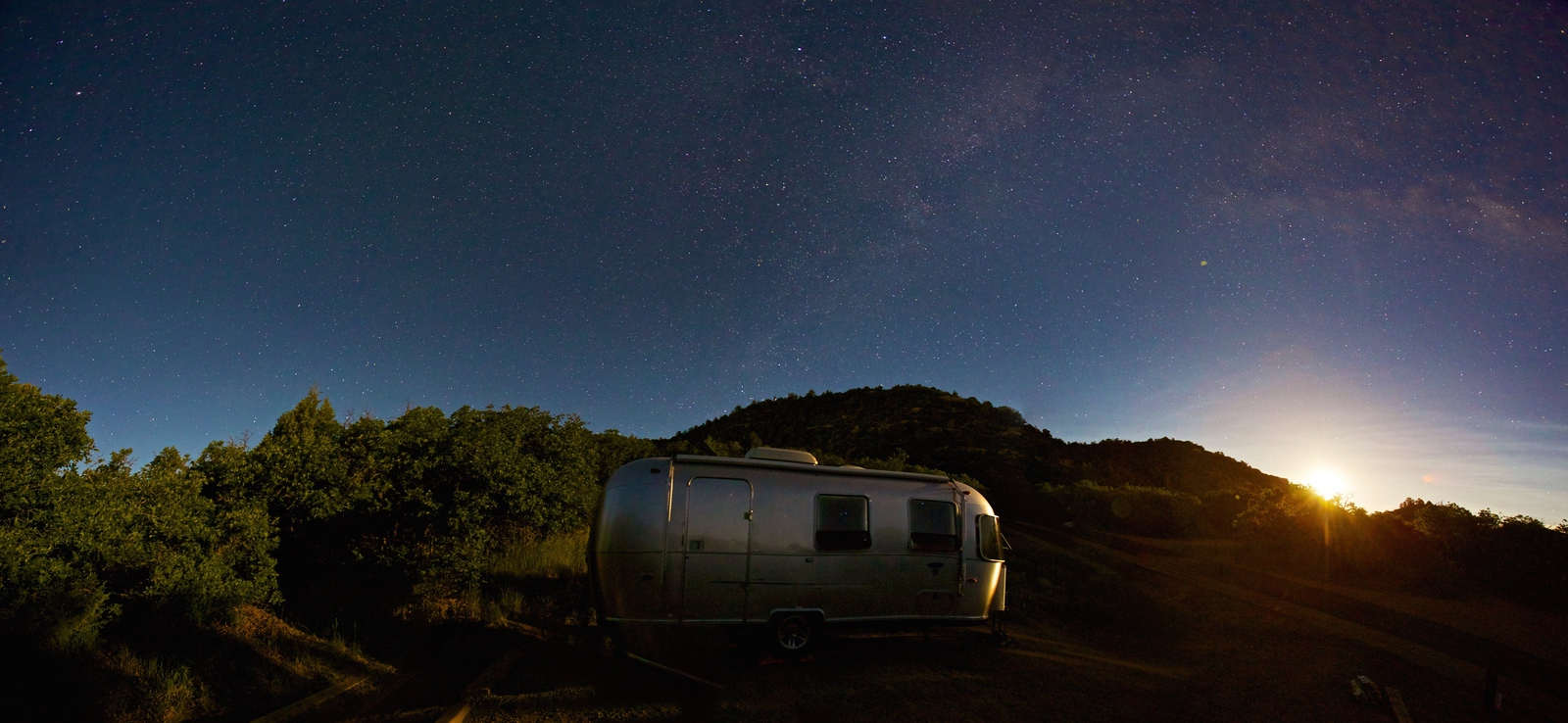 Moonrise and Airstream